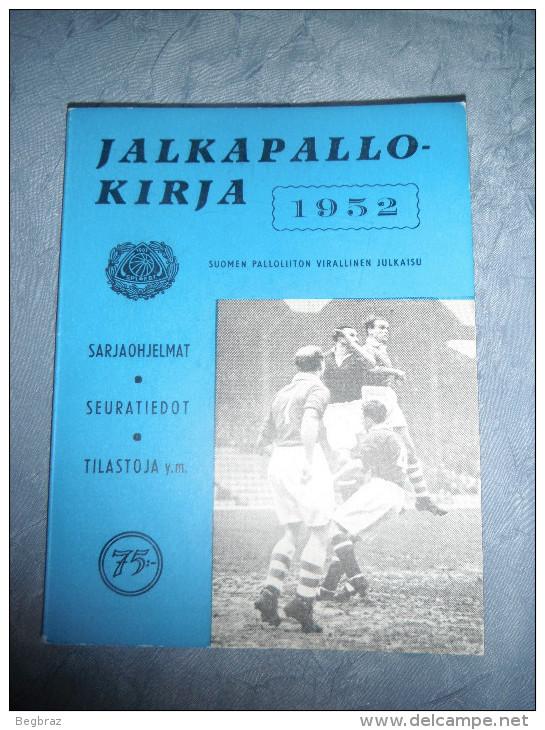 FOOTBALL FINLANDAIS 1952 18/ 11,5 Cm - Livres