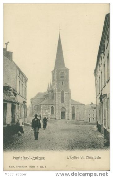 BELGIQUE FONTAINE L'EVEQUE / L'Eglise Saint-Christophe / - Fontaine-l'Evêque