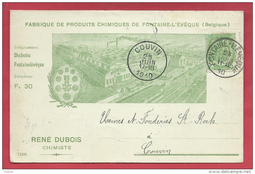 Fontaine-L'Evêque - Fabrique Du Produits Chimiques - René Dubois, Chimiste - 1910 ( Voir Verso ) - Fontaine-l'Evêque