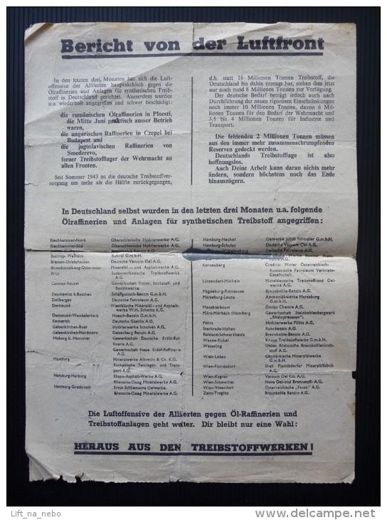 WWII WW2 Propaganda Leaflet Tract Flugblatt, Code XG.26, Deutsche Arbeiter!, FREE SHIPPING WORLDWIDE - Oude Documenten