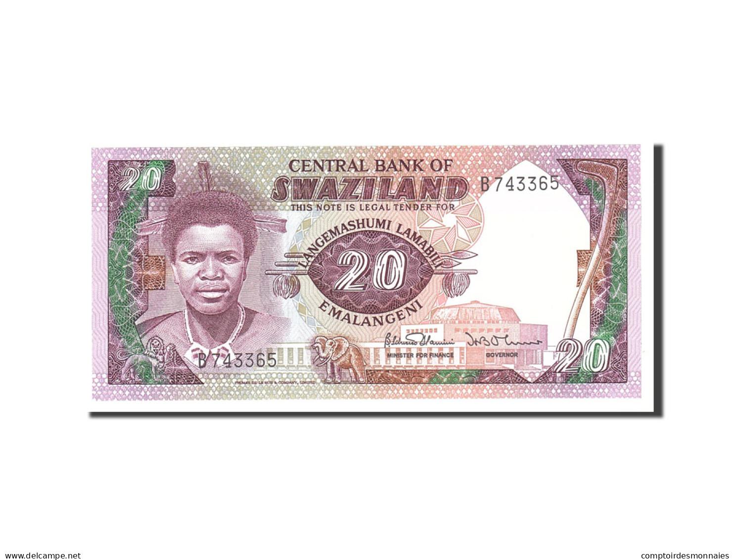Swaziland, 20 Emalangeni, 1985, KM:11b, Undated, NEUF - Swaziland