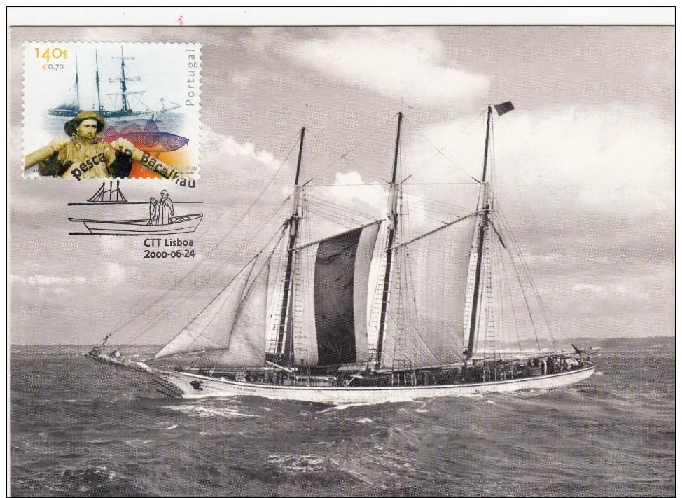 Portugal, Maximum Card, 2000, Pesca Do Bacalhau - Maximum Cards & Covers