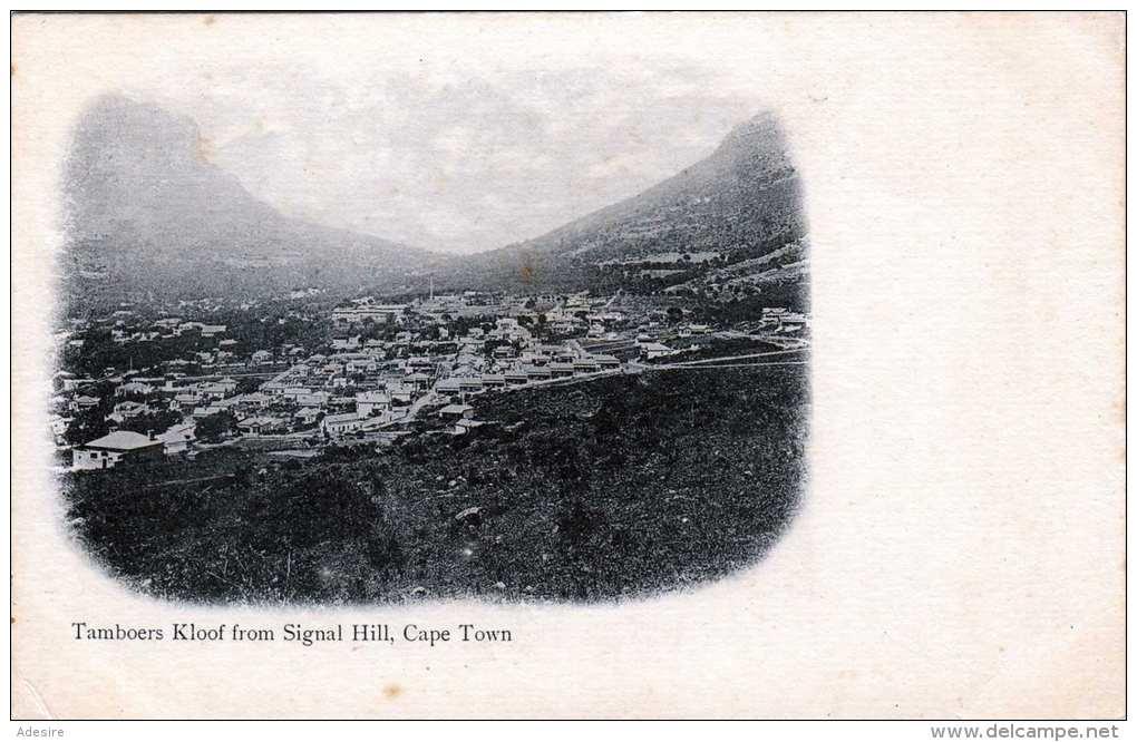 CAPE TOWN (Südafrika) Tamboers Kloof From Signal Hill - Karte Um 1900 - Südafrika