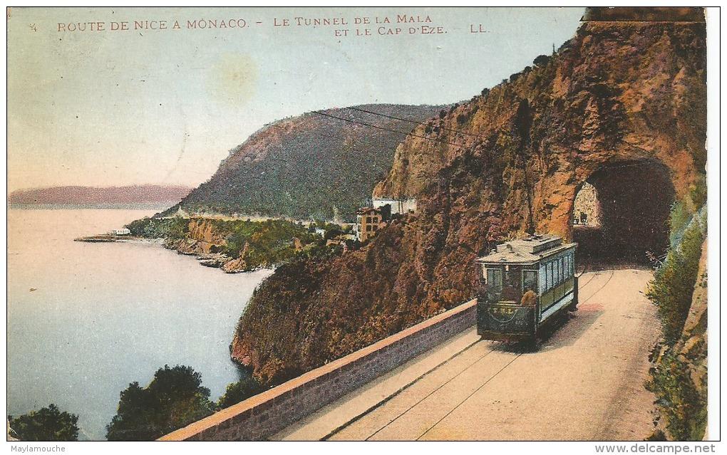 Monaco Nice (tram 1920 - Non Classés