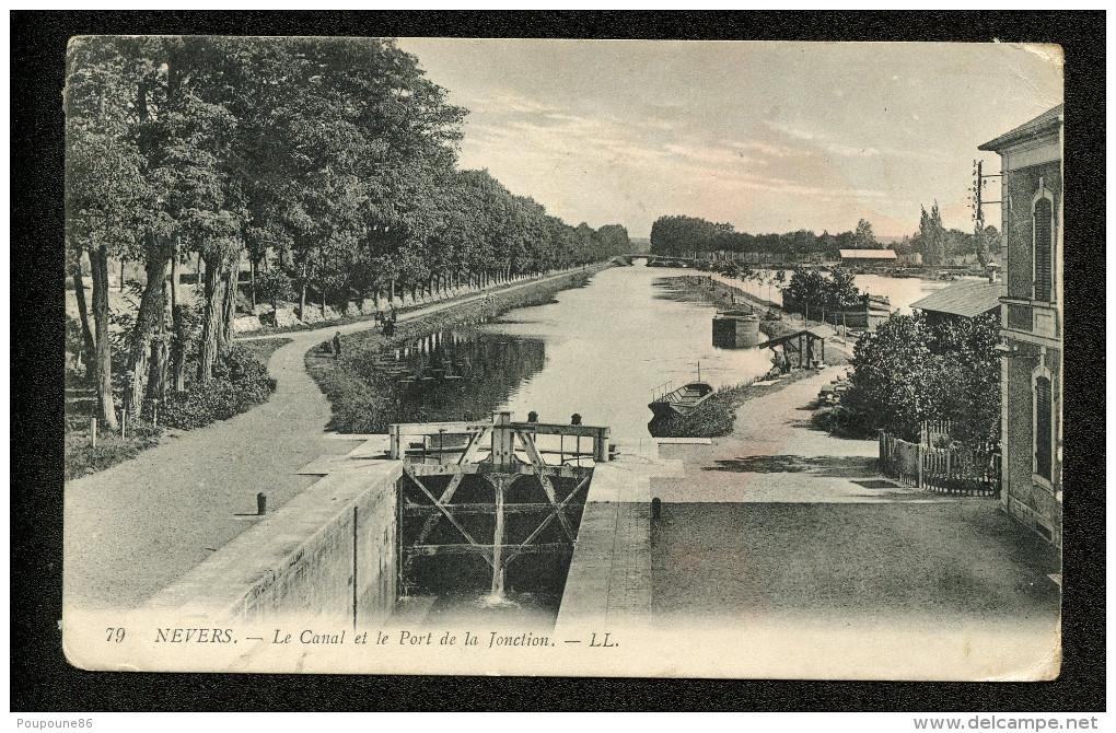 58 CPA NEVERS - LE CANAL ET LE PORT DE LA JONCTION - Nevers