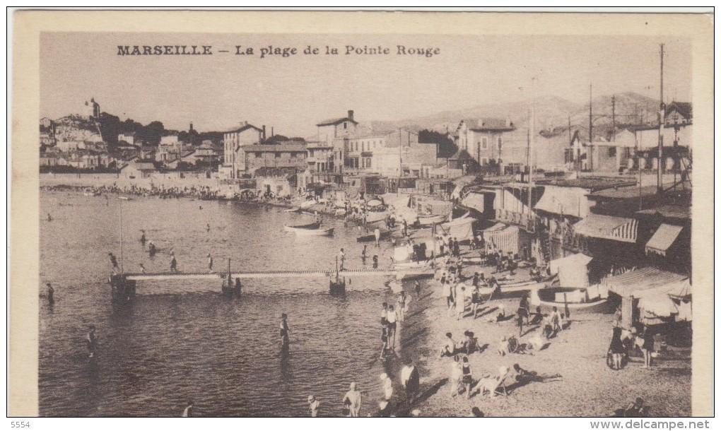 13  Marseille La Plage De La Pointe Rouge - Quartiers Sud, Mazargues, Bonneveine, Pointe Rouge, Calanques