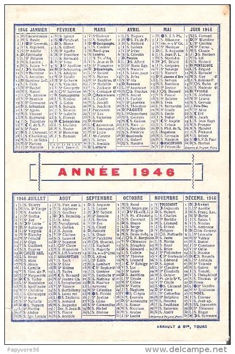 """Calendrier 1946 - """" La Nouvelle République Du Centre-Ouest """" - Calendriers"""