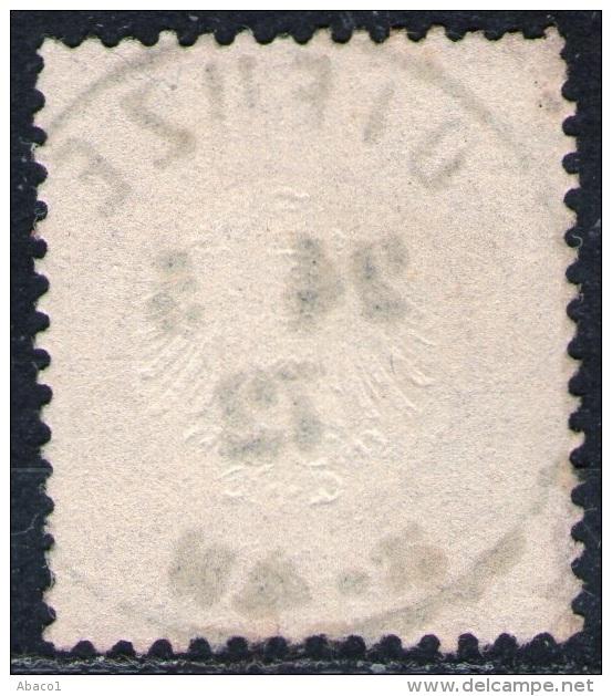 Dieuze 24.5.72 Auf 1 Groschen Karmin - DR Nr. 19 - Kabinett - Gebraucht