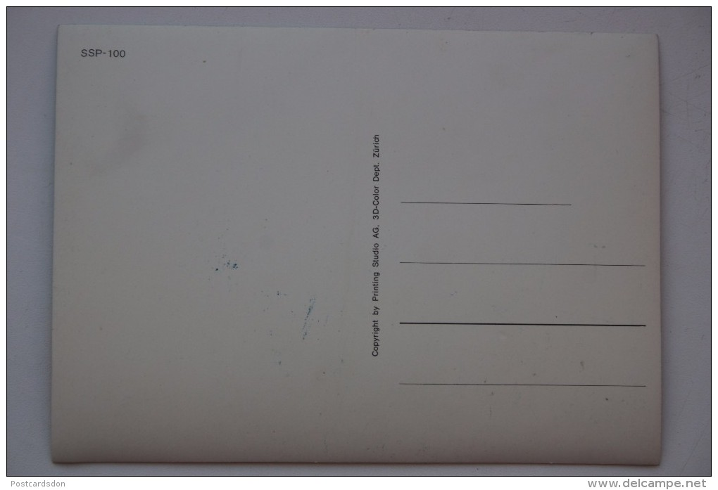 Old Stereo Postcard -  Toppan  3D PC - Kangaroo - Cartoline Stereoscopiche