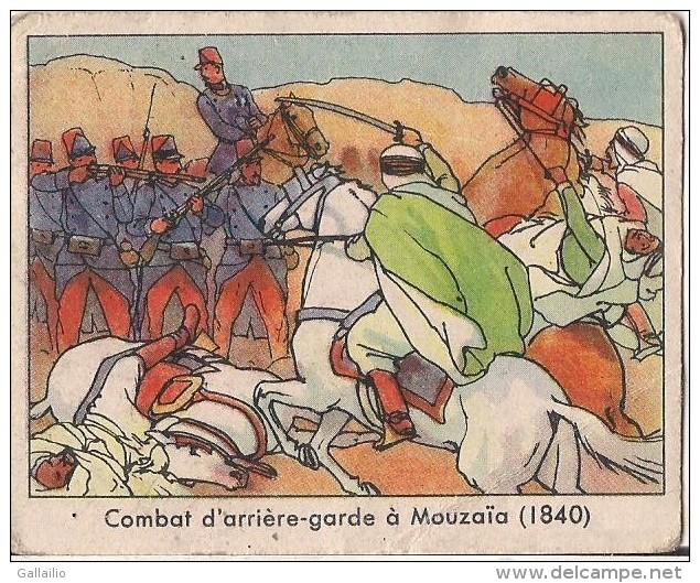 CHROMO GOMME A MACHER GLOBO LA LEGION ETRANGERE COMBAT D'ARRIERE GARDE A MOUZAIA 1840 - Altri