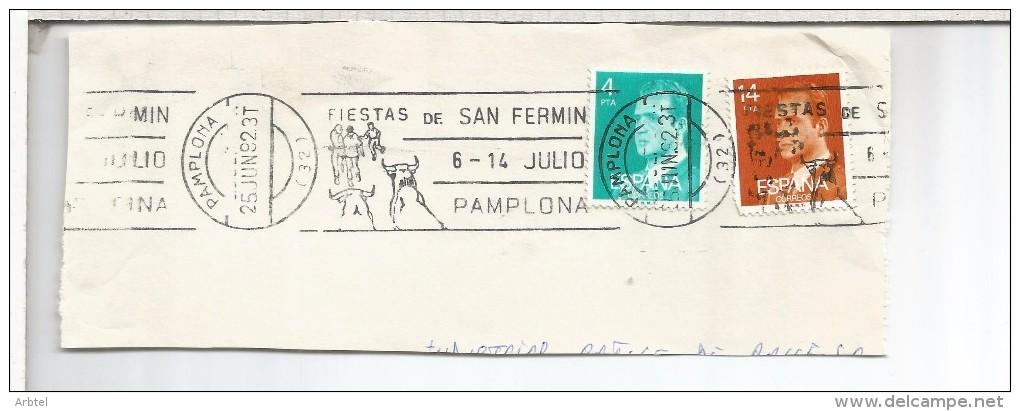 PAMPLONA NAVARRA FRAGMENTO DE RODILLO FIESTAS DE SAN FERMIN 1982 - Fiestas