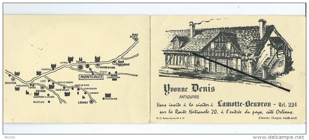 Dépliant Carte De Visite - Lamotte Beuvron Et Montlouis Sur Loire ( Indre Et Loire ) - Cartes De Visite