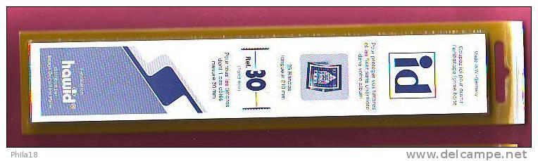 1 LOT DE 25 BANDES ID FOND NOIR FAB. HAWID DOUBLE SOUDURE 210 X 30  Environ 30% DE REMISE PRIX VENTE CONSEILLE 7.40 &eur - Stamps