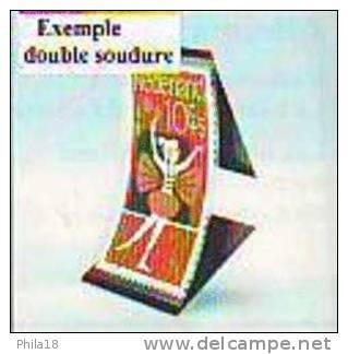 1 LOT DE 25 BANDES ID FOND NOIR FAB. HAWID DOUBLE SOUDURE 210 X 30  Environ 30% DE REMISE PRIX VENTE CONSEILLE 7.40 &eur - Other Supplies And Equipment