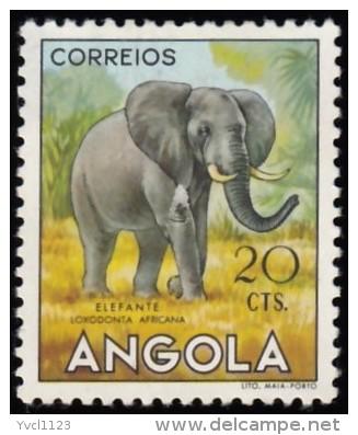 ANGOLA - Scott #364 Elephant / Mint H Stamp - Angola