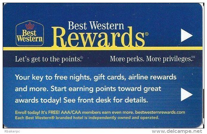 Best Western Hotels - Color Logos On Back - Hotel Keycards
