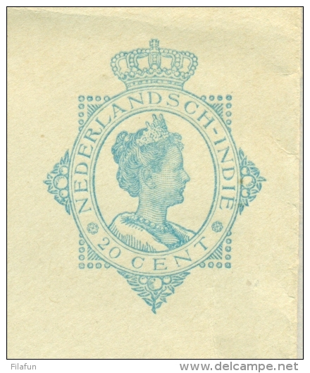 Nederlands Indië - 1922 - 20 Cent Wilhelmina Preprinted Cover G45 - Ongebruikt - Indes Néerlandaises