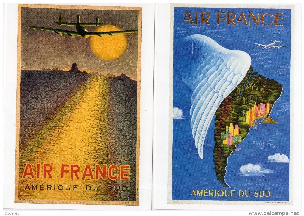 "LOT DE 4 CARTES   ""AIR FRANCE"" - Unclassified"