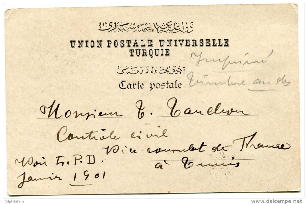 FRANCE IMPRIME (CARTE POSTALE) DEPART CONSTANTINOPLE 30 NOV 00 TURQUIE POUR LA TUNISIE - Marcophilie (Lettres)