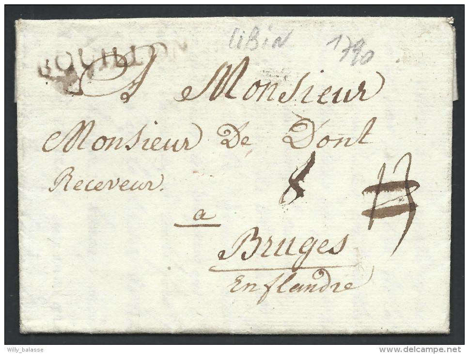 """L Datée De Libin 1790 Marque BOUILLON + """"8"""" Pour Bruges. RR - 1789-1790 (Révol. Brabançonne)"""