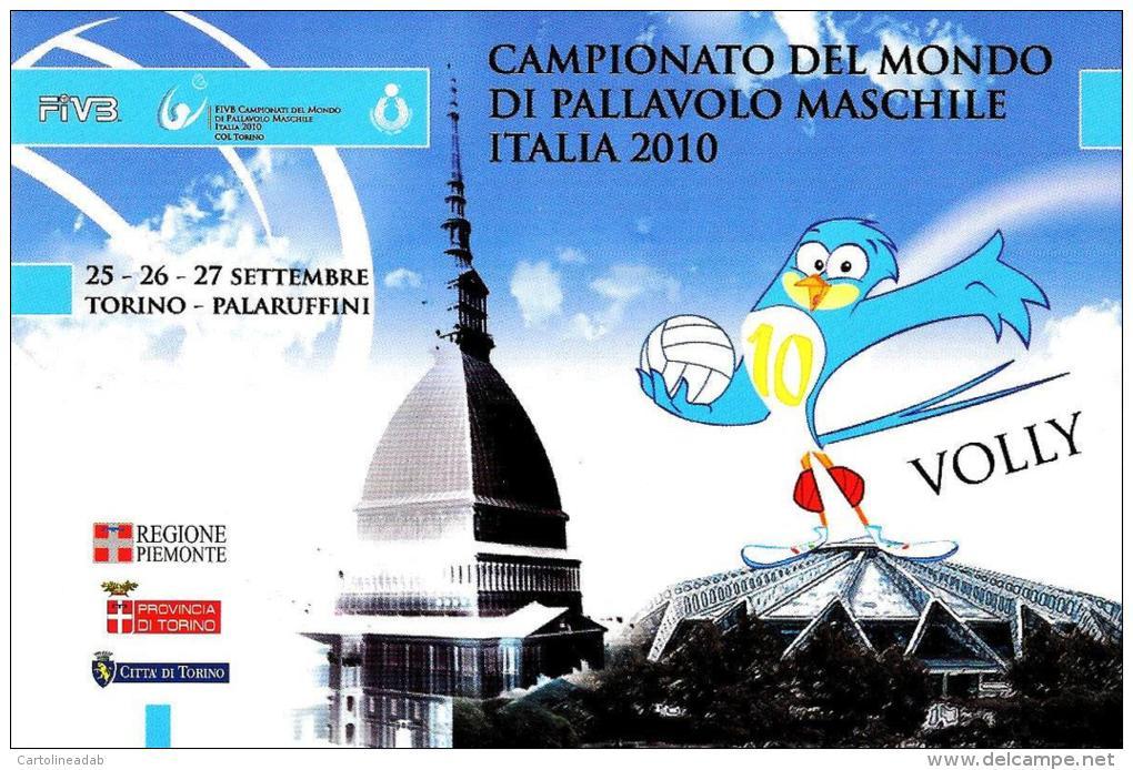 [MD0625] CPM - TORINO - CAMPIONATO DEL MONDO DI PALLAVOLO MASCHILE ITALIA 2010 - CON ANNULLO 25.9.2010 - NV - Volleyball