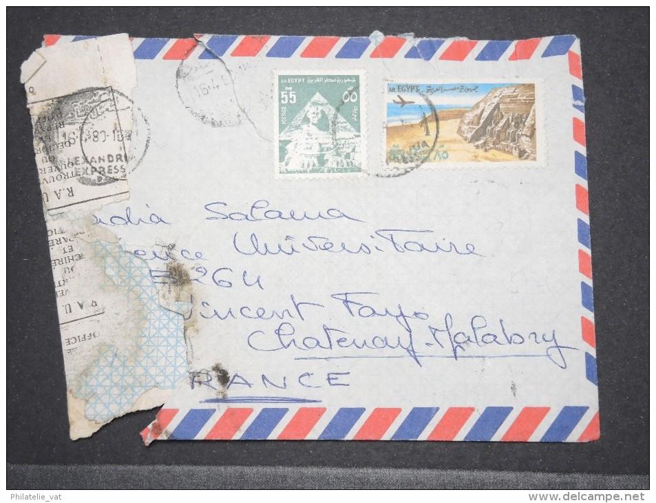 EGYPTE - Env Accidentée (sans Doute à Alexandrie) Pour La France - Avril 1980 - A Voir - (QUER) - P17122 - Poste Aérienne