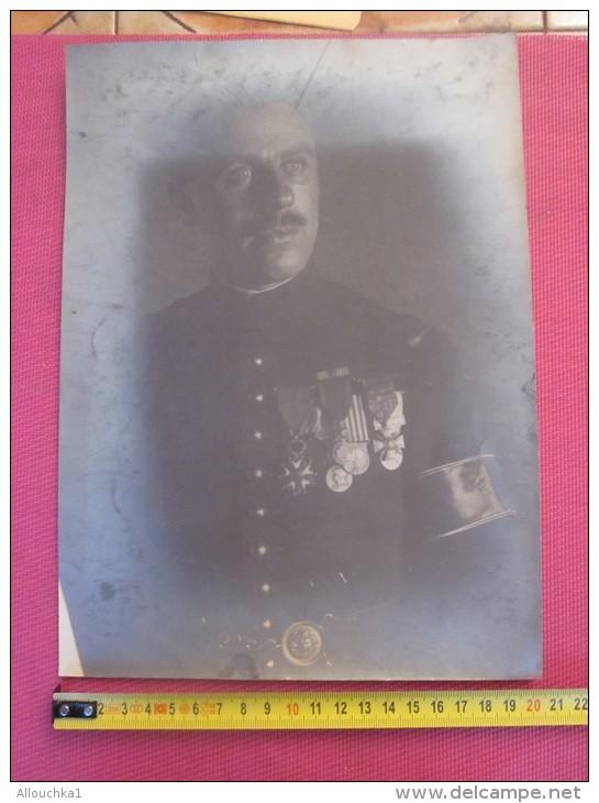 PHOTOGRAPHIE ORIGINALE PHOTO (Ratée )MILITAIRE ARMEE D´ORIENT MAROC-NOMBREUSES MEDAILLES HONNORIQUES CROIX GUERRE ETC.. - War, Military