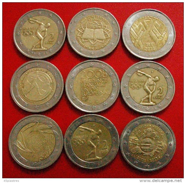 § 9 COMMEMORATIVE COINS: 2 EURO DIFFERENT TYPES! LOW START★NO RESERVE!!! - Kilowaar - Munten