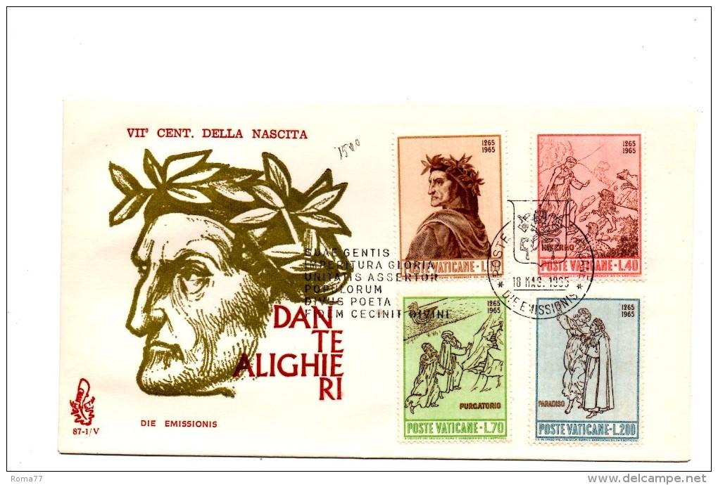 Fa115A - VATICANO FDC 1965 ( Ed. VENETIA ) : DANTE - FDC