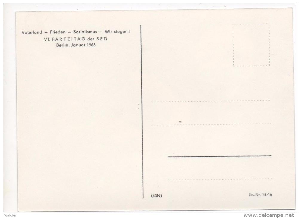 VI. PARTEITAG DER SED - BERLIN  1963  (EHEM. DDR) - Evènements