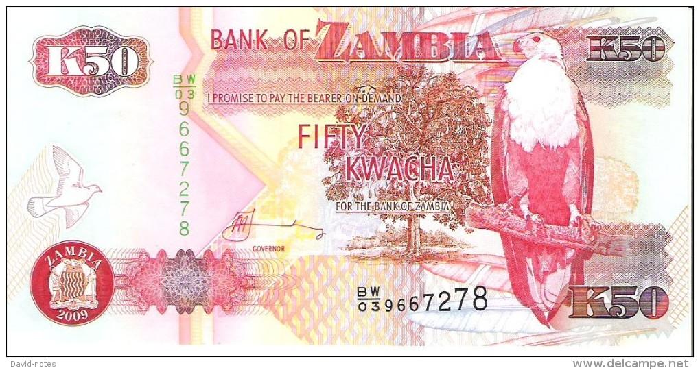 Zambia - Pick 37h - 50 Kwacha 2009 - Unc - Zambie