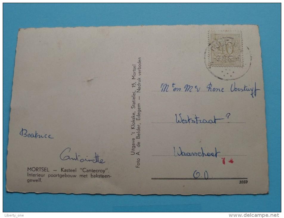 """Kasteel """" CANTECROY """" ( 't Klokske / De Belder ) Anno 196? ( Zie Foto Voor Details ) !! - Mortsel"""