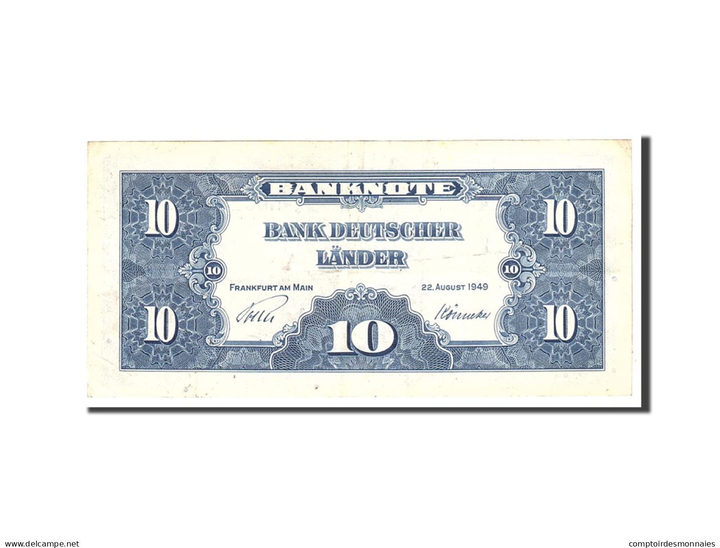 République Fédérale Allemande, 10 Deutsche Mark, 1949, KM:16a, 1949-08-22,... - [ 7] 1949-… : RFD - Rep. Fed. Duitsland