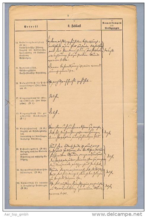 DR Stockheim I.Ofr. 1890-03-17 Controllausweis Vollst. - Allemagne