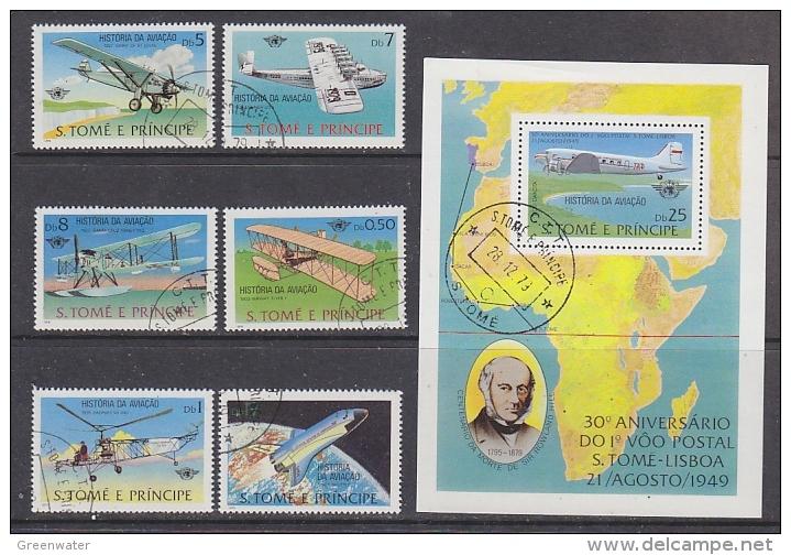 Sao Tome E Prinipe 1979 Aviation 6v + M/s Used Cto (27421) - Sao Tome En Principe