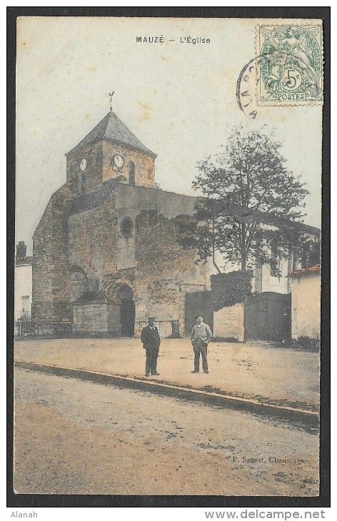 MAUZE Colorisée L'Eglise (Saurat) Deux-Sèvres (79) - Mauze Sur Le Mignon