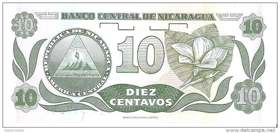Nicaragua - Pick 169 - 10 Centavos 1991 - Unc - Nicaragua