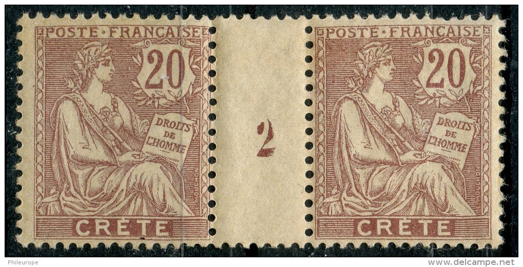 Crete (1902) Millesime 2 N 8 ** (Luxe) Rousseurs - Unused Stamps