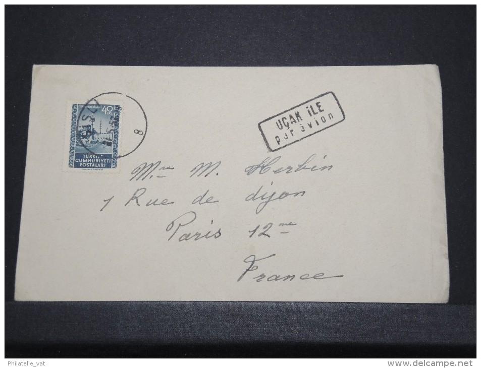 TURQUIE - Env Par Avion Ista,boul Pour La Paris France - Mai 1953 -  P16808 - Palestine