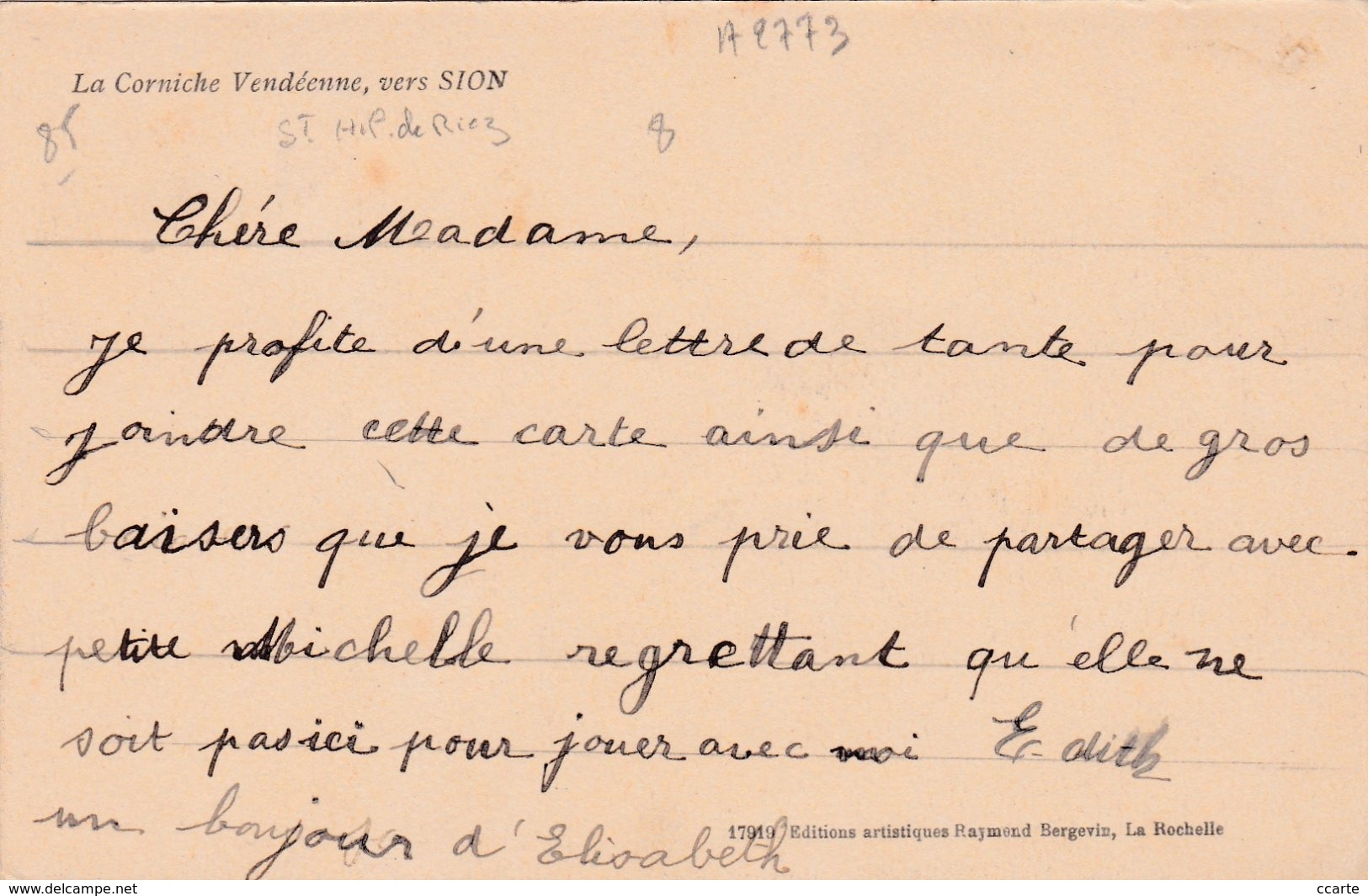 SAINT-HILAIRE-DE-RIEZ - 85 - SITES - PLAGES - LA CORNICHE VENDEENNE, VERS SION - Animation - Saint Hilaire De Riez