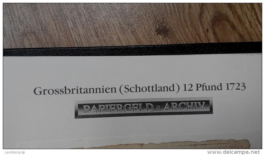 Grossbritannien - Schottland / United Kingdom - Scotland - 12 Pounds 1723 COPY Lemberg-Zp - Altri