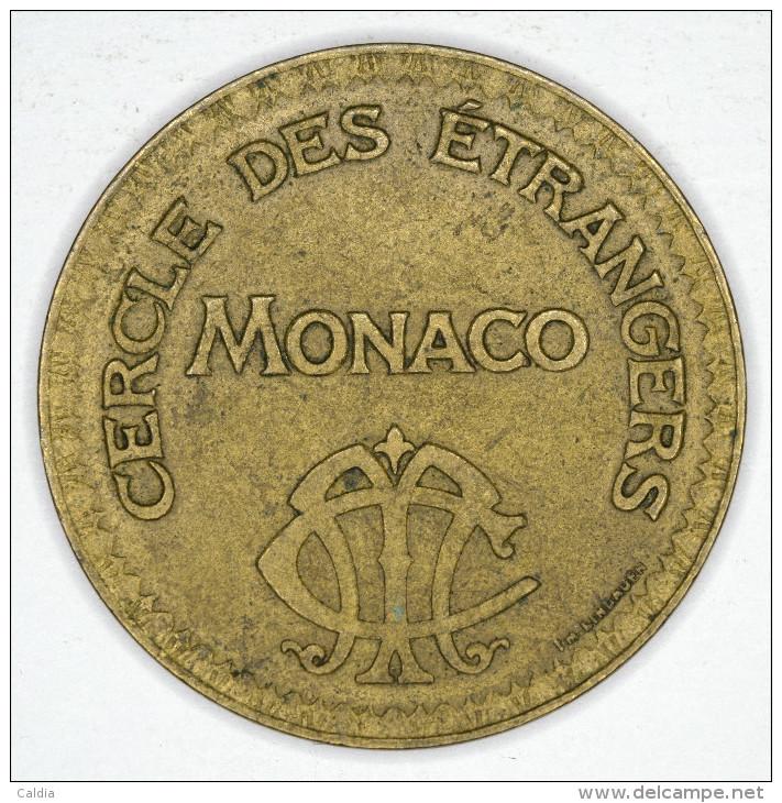 """Monaco Jeton Token 10 FRANCS - ST DES BAINS DE MER - """""""" CERCLE Des ÉTRANGERS """""""" # 7 - Autres"""