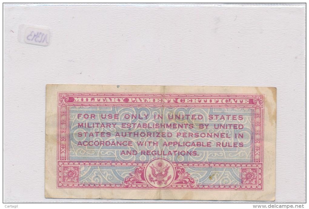 Billets-B1972-Billet Certificat  Paiement Militaire USA  50 Cents RARE  ( Type, Nature, Valeur, état... Voir 2 Scans) - Andere