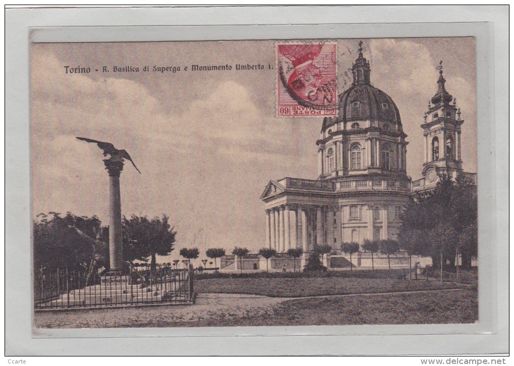 ITALIE - PIEMONTE - TORINO - EDIFICES - EGLISES - R. Basilica Di Superga E Monumento Umberto I. - Churches