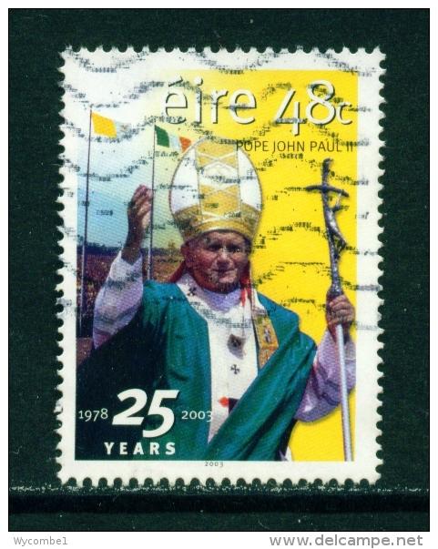 IRELAND  -  2003  Pope John Paul II  48c  Used As Scan - Usati