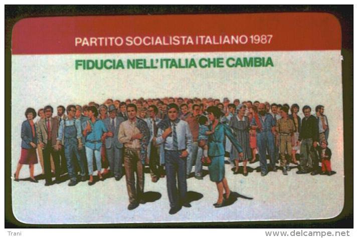 PARTITO SOCIALISTA ITALIANO - TESSERA DEL 1987 - Documenti Storici