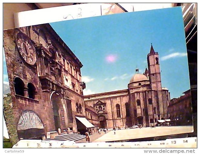 ASCOLI PICENO PIAZZA POPOLO E OROLOGIO  N1978  FI10731 - Ascoli Piceno