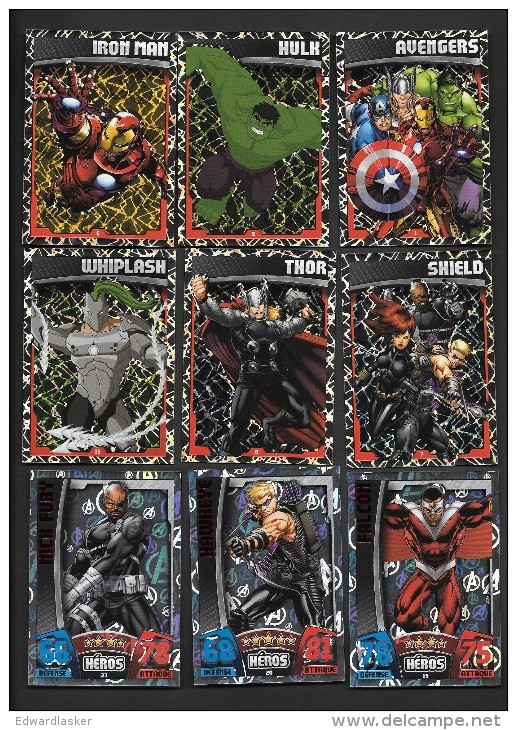 Carte TOPPS AVENGERS HOLOGRAPHIQUE BRILLANTE à Choisir Dans Liste - Marvel