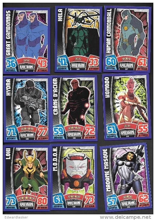 Lot De 8 Cartes TOPPS AVENGERS NORMALES à Choisir Dans Liste - Marvel
