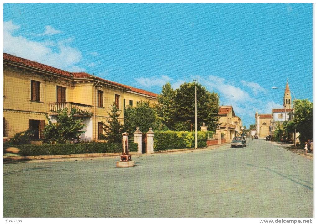 ARZERGRANDE Via Roma Con Auto D´epoca Car FIAT 124 600 500 Ed Altre - Altre Città